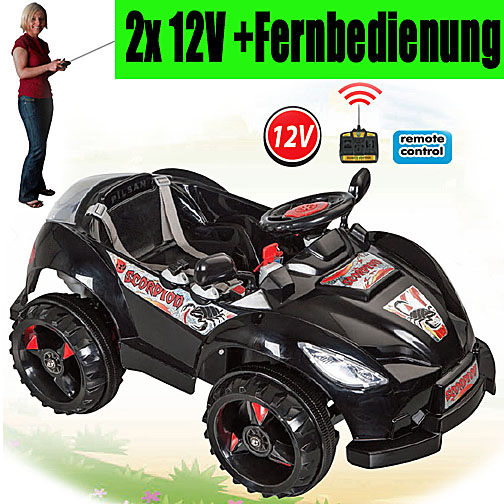 12v pilsan scorpion kinderauto elektroauto kinderfahrzeug. Black Bedroom Furniture Sets. Home Design Ideas