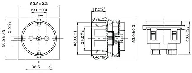 schuko steckdose klein din49440 caravan wohnmobil wohnwagen m bel m beleinbau ebay. Black Bedroom Furniture Sets. Home Design Ideas